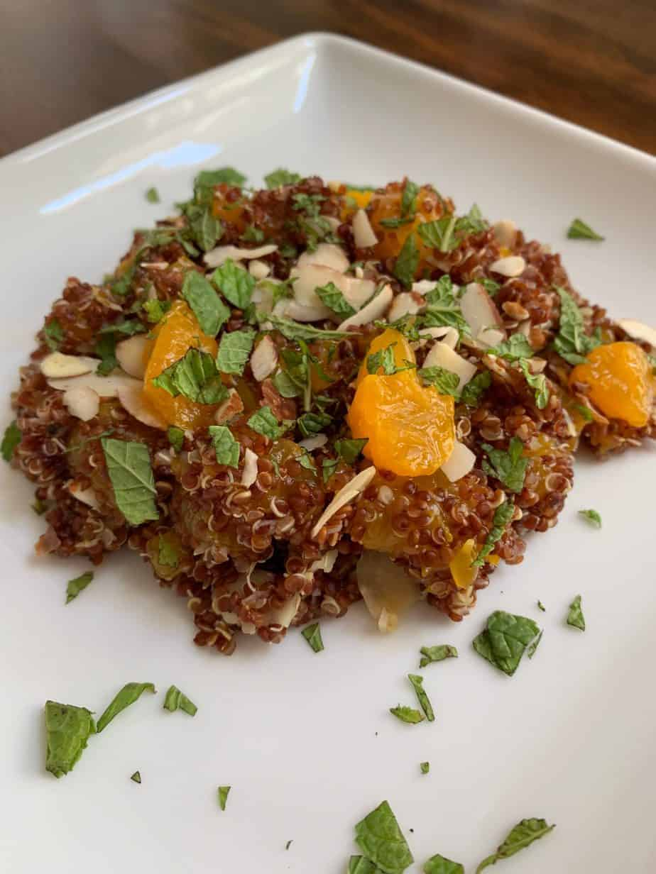 Almond and Mandarin Quinoa Salad