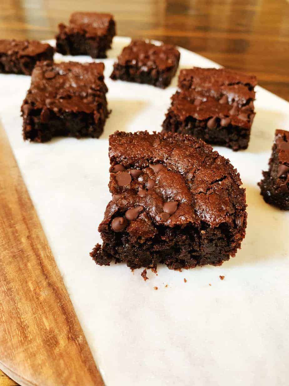 Nutella Chickpea Brownies