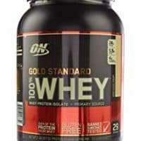 OPTIMUM NUTRITION GOLD STANDARD 100% Whey Protein Powder From Whey Isolates, Vanilla Ice Cream - 2 Pound