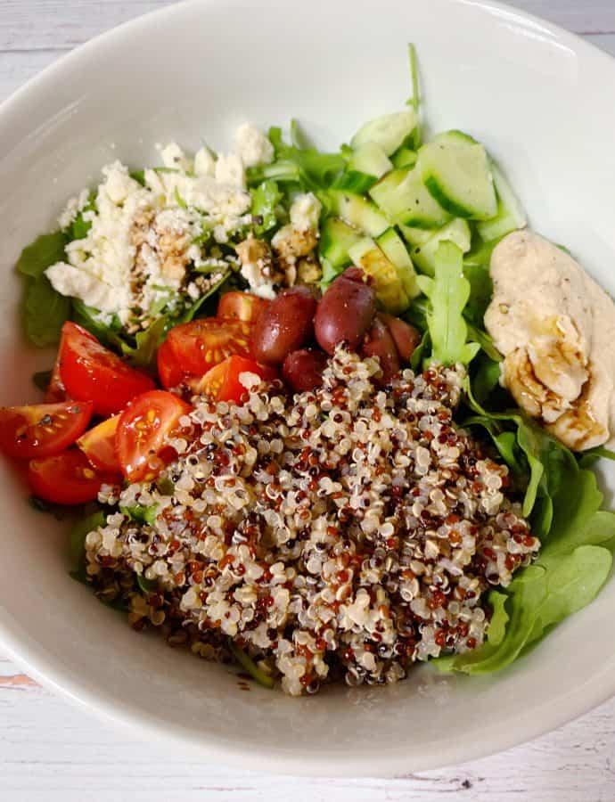 Easy Mediterranean Quinoa Bowl
