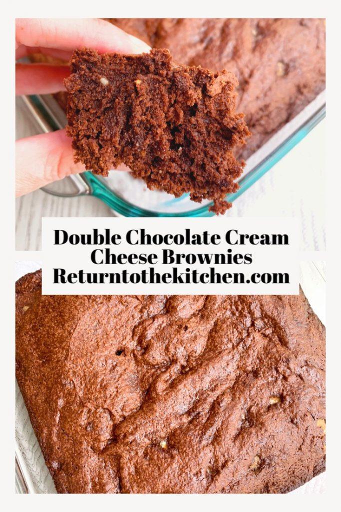 Double Chocolate Cream Cheese Brownies