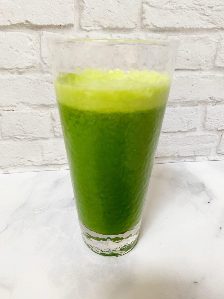 Kale Lemonade in a clear glass