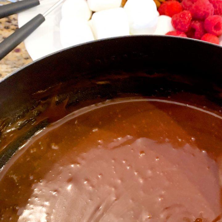 3-Ingredient Chocolate Fondue