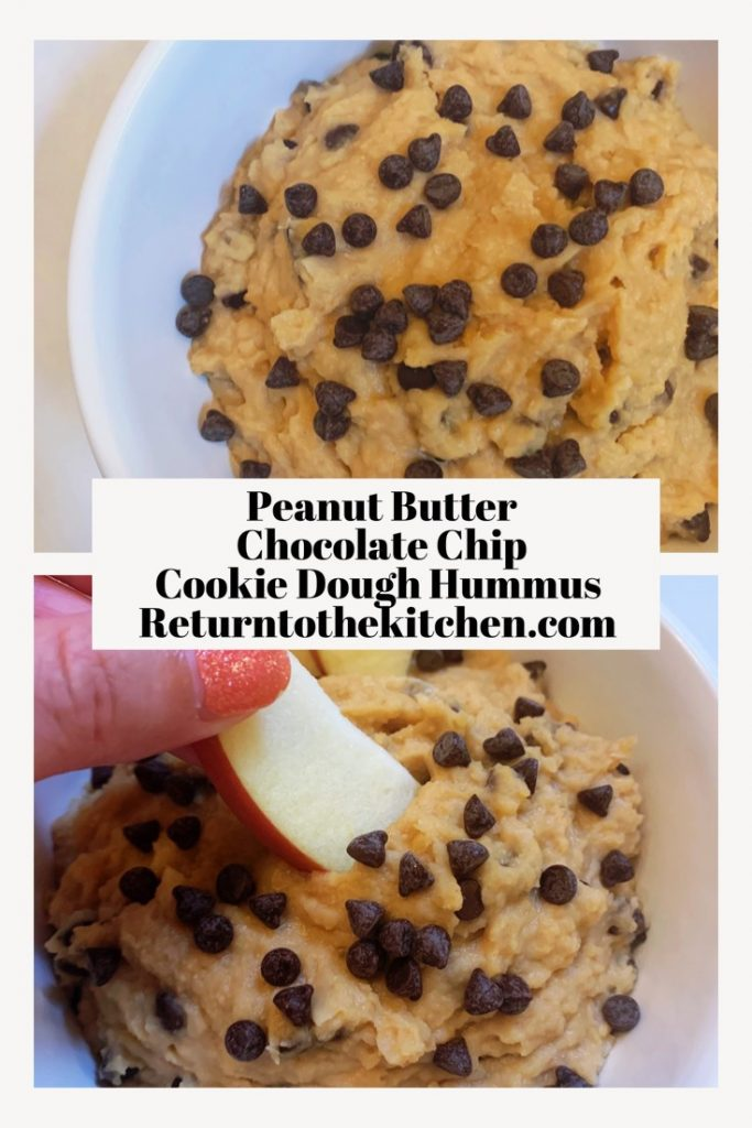 peanut butter chocolate chip cookie dough hummus