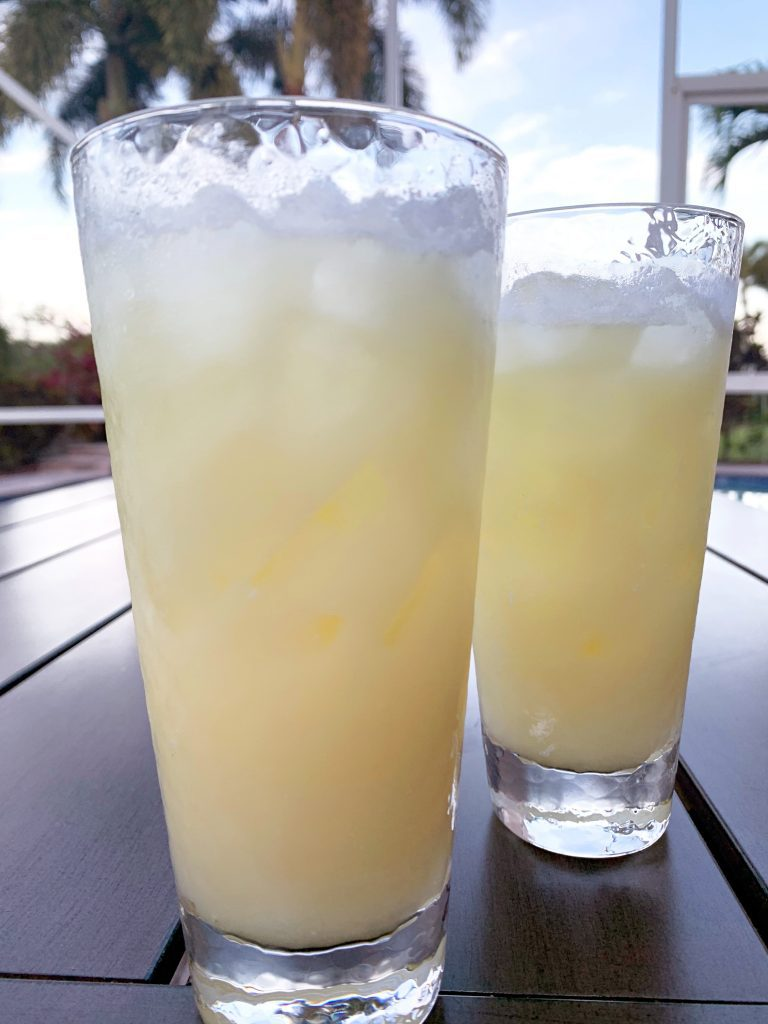 Dreaming of Summer Cocktails on a table outside